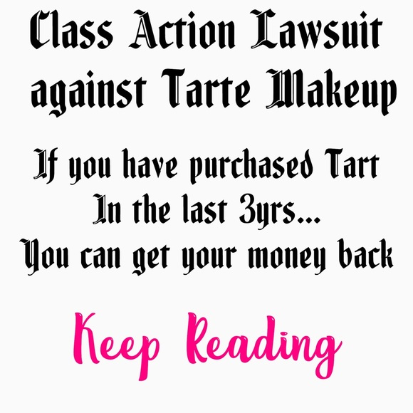 tarte Other - Tarte makeup refund notice